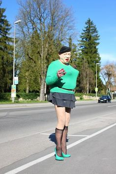 NEVER wear pants nylons with a skirt!