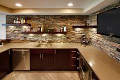 Shelves above cabinets-Basement Photos Design, Pictures, Remodel, Decor and Ideas - page 31