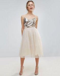 Платье для выпускного с отделкой Little Mistress