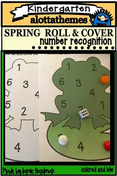 Celebrate the spring season with this cute independent center. This resource provides two styles. The second can be copied and laminated to be used at a math center. Students will have fun with these cute spring critters! Number Recognition, Spring Theme, Alphabet Activities, Learning Through Play, Spring Rolls, Math Centers, Fine Motor, Just Love, Have Fun