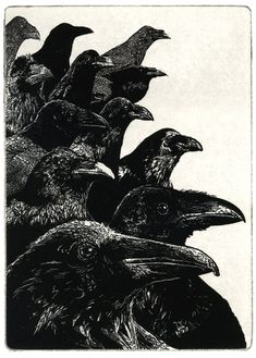 The Jury - Aquatint etching 5 x 7 inch 2011, by Larry Vienneau, Jr.