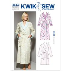 Misses Robes Kwik Sew Sewing Pattern No. 3644