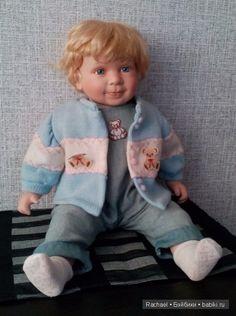 Продолжаю сокращать свою коллекцию больших кукол. Прекрасный малыш скучает на полке. Чудесные голубые глазки, милая улыбка.…