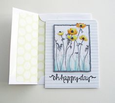 a day for daisies floral card by Mel Stampz