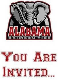 Free Alabama Roll Tide Party Invitations