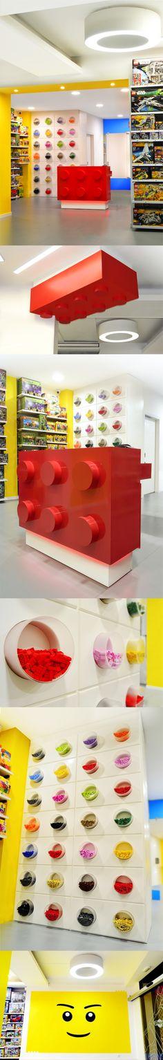 LEGO store in Barcelona. Lego Store, Barcelona, Shops, Studio, Design, Shop Lego, Tents, Barcelona Spain, Retail