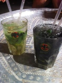 Mojito black and white with my best friends!!