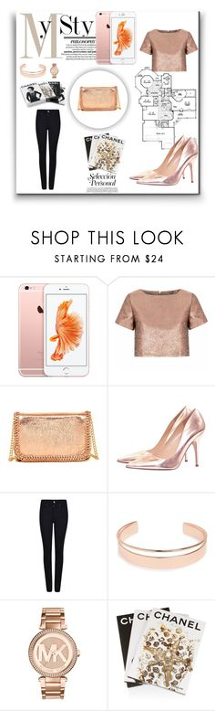 """""""Rose gold"""" by hollynagle on Polyvore featuring Glamorous, Steve Madden, Kate Spade, Giorgio Armani, Leith, Michael Kors, Assouline Publishing, Chanel, Heels and iphone"""