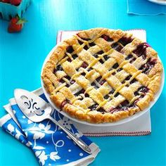 Ozark Mountain Berry Pie Recipe -I think the best berries in the world are grown in the Ozarks. We own a small berry farm, and this is one of my favorite recipes. It's delicious served warm. —Elaine Moody, Clever, Missouri