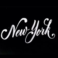 "Welcome to my New York board. Hope you enjoy and it leaves you in ""a New York State of Mind. Typography Letters, Graphic Design Typography, Lettering Design, I Love Nyc, My Love, Motivation Positive, Empire State Of Mind, Hand Drawn Type, New York"