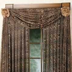 Leopard Curtains And Valance