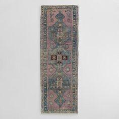 One of my favorite discoveries at WorldMarket.com: 3'8'x10'7' Triple Medallion Vintage Turkish Floor Runner