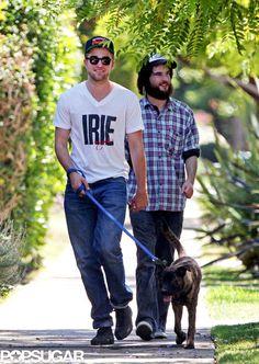 Celebrity Dog Lovers - Robert Pattinson and Bear