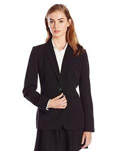 Calvin Klein Women's Single Button Suit Jacket,Black,12 Calvin Klein http://www.amazon.com/dp/B001UIHPAO/ref=cm_sw_r_pi_dp_tQHdub1EA6S23