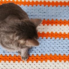 Love the granny crochet stitch but don't want a squared project this go? See how to work the stitch into a straight line!