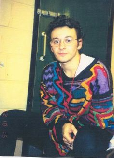 "James Dean Bradfield in ""delightful"" jumper"