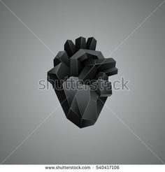 stock-vector-black-low-poly-human-heart-on-a-gray-background-abstract-anatomy-organ-540417106.jpg (450×470)