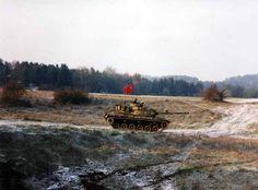"OPFOR M60A3 of the 1st Bn 4th Inf Regt in ""The Box"" at CMTC Hohenfels, Germany in Nov 2001"