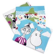 These multicolored kitchen towels bring color to your kitchen. Use them and make your cooking moments memorable. The Moomin-towels are inspired by Tove Jansson's original drawings and are authentic ©Moomin Characters™ licensed products. Moomin Shop, Tove Jansson, Kitchen Items, Kitchen Stuff, Settee, Kitchen Towels, Tea Towels, Sweet Home, Sweet Sweet