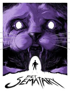 """Pet Sematary"" screen print by Matthew Johnson This is a limited edition print for Hero Complex Gallery's ""King For A Day"" tribute to Stephen King. Horror Movie Posters, Movie Poster Art, Horror Movies, Arte Horror, Horror Art, Stephen King It, Pet Sematary, Mary Lambert, Alien 1979"