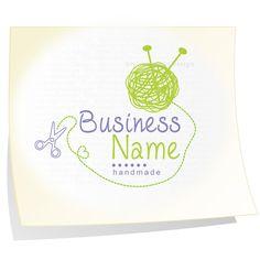 Premade logo Knitting logo branding your business NEVER RESOLD. $38.00, via Etsy.