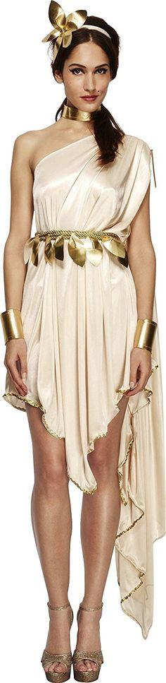 Fever, Damen Göttin Kostüm, Kleid, Gürtel, Armmanschetten, Halsband und Haarreif, - Werbung #Fasching #Karneval #Kostüm #Kleid #Göttin #Gott