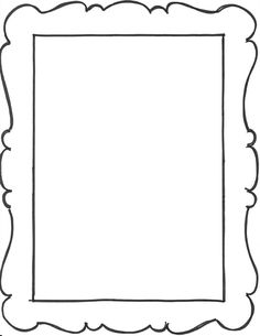 Add a few frame outlines to the art notebook party favors. From My Sister's Suitcase Frame Templates