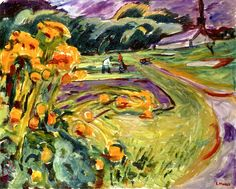 Edvard Munch | Autumn by the Greenhouse, c.1923-25