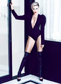 Miley Cyrus' cheeky photo shoot puts her shape on show