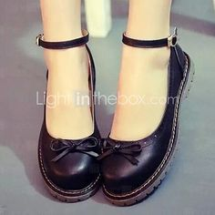 Women's Shoes Flat Heel Round Toe Flats Casual Black/Brown/Red 2016 - $27.99
