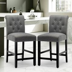 """Ophelia & Co. Winsted Solid Wood 28.3"""" Bar Stool 