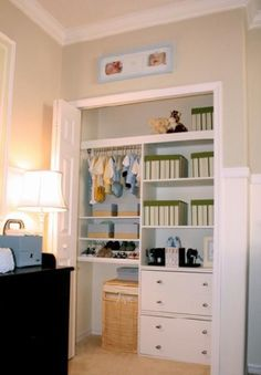 Closet conversion...for guest room.  Room for clothes AND office storage.