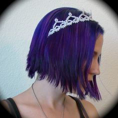 Tatted Lace Tiara Headband -