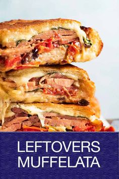 An epic way to use Christmas leftovers - make a giant toasted bread bowl sandwich! Perfect portable food, this is certainly not your average sandwich. Healthy Cooking, Cooking Recipes, Healthy Food, Snack Recipes, Snacks, Muffuletta Recipe, Great Recipes, Favorite Recipes, Portable Food