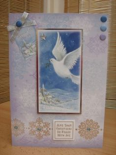 Handmade Christmas Card - Peace on Earth Dove   Kibbs Cards MISI Handmade Shop