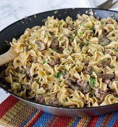 Created by: Erin Sellin, Dinners, Dishes, and Desserts   Busy weeknights call for quick and easy dinners. This one-pot beef stroganoff is a quick and easy version of the classic, so you can have it on your busiest night. Plus it's more budget friendly than the original because you use ground beef to make it come together.