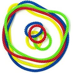 Chewable Jewelry Necklace Bracelet Big Coil Combo - Fun Sensory Motor Aid - Speech And Communication Aid - Great For Autism And Sensory-Focused Kids - 8 Units 4 Color Sets