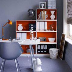 Elegant Colorful Home Office Design Ideas