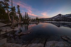 Lake Aloha sits below Pyramid peak in Desolation Wilderness, CA. (Haven't been? But, I'm going! Great place to get some exercise in and some barbless fishing done!! ) love it