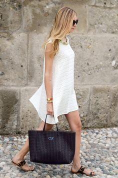 chic, easy, timeless. we'll definitely be recreating this during the next heat wave.