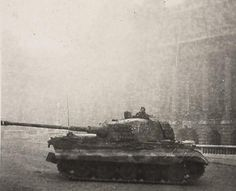 Tank photo. King Tiger tank of the schwere Panzer Abteilung 503. Tank number 200 Budapest Hungary 1944