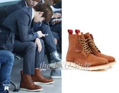 SID_FT_Raclique_SuHo Plain Toe Brogue Boots in Light Brown | Shop: KRW(₩) | Image Source: Made in Heaven