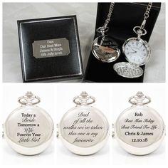 Personalised Pocket Watch in SILK GIFT BOX For Wedding/Best Man/Groomsman/Dad | eBay