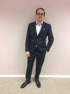 François Byvoet from DNB looks sharp and ready to travel the Baltics in his new LGFG Tokyo line bespoke suit and shirt.