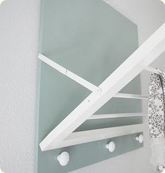 reclaimed window frame towel rack