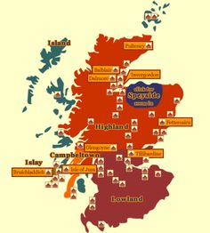 Distilleries of scotland provide the complete list of Scotch Distilleries choose your favourite scotch whisky distillery from highland to lowland. Whisky Map, Malt Whisky, Scotland Map, Scotland Travel, Scotland Vacation, Edinburgh, Highlands, Isle Of Jura, Whiskey Distillery