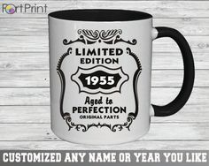 60th Birthday , 60 Birthday gift , 60 th birthday mug , Both sides Printed Design , 60th Birthday mug , Limited Edition 1955 mug , 60th 60