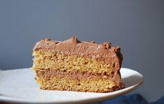 Graham Cracker Layer Cake with Whipped Chocolate Caramel Ganache Recipe
