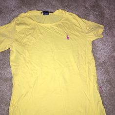Polo t-shirt Worn and washed once . Been folded in my drawer for awhile Polo by Ralph Lauren Tops Tees - Short Sleeve