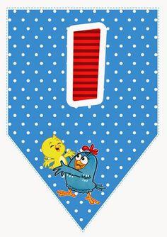 Alfabetos Lindos: Alfabeto da galinha pintadinha para imprimir bandeirinhas